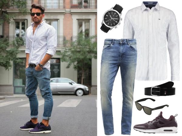 biała koszula i jeansy 2