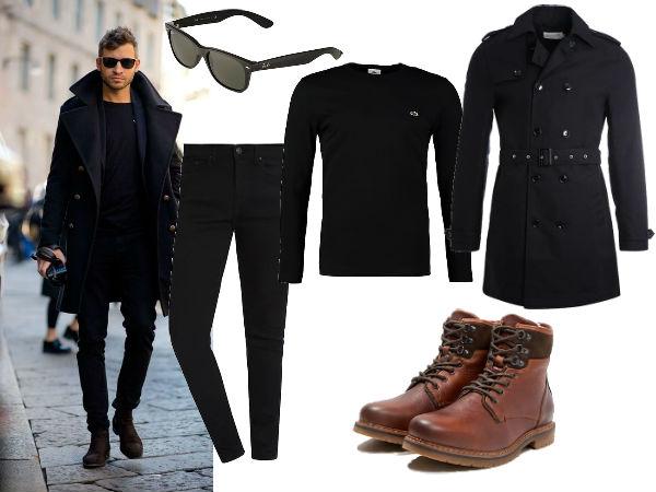 jak nosić płaszcz dwurzędowy męski
