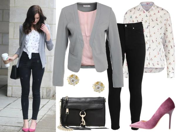 jeansy i marynarka czarne 2