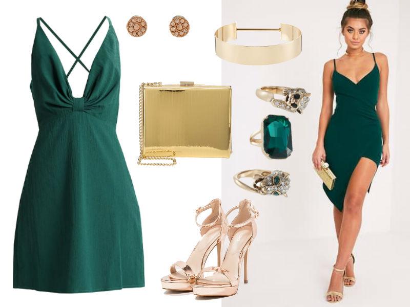 szmaragdowa sukienka: jakie dodatki?