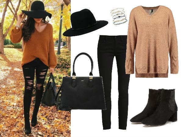 długi sweter stylizacje