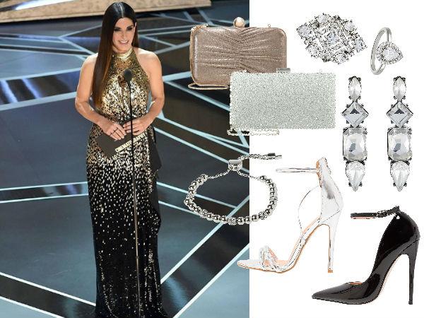 srebrna sukienka jakie dodatki