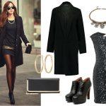 elegancki Czarny płaszcz stylizacje