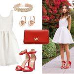 rozkloszowana sukienka stylizacje