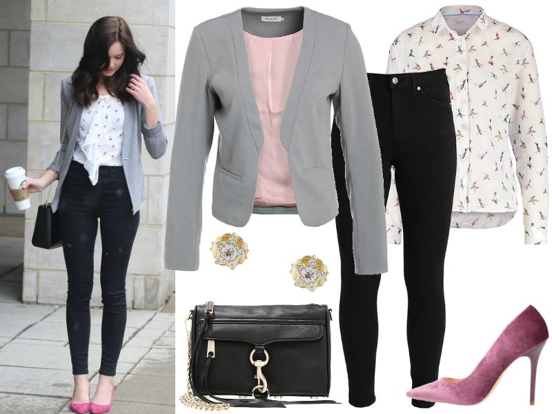 jeansy i marynarka czarne